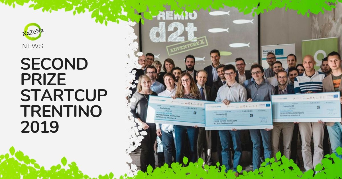 Nazena wins the second prize of Startcup Trentino 2019!